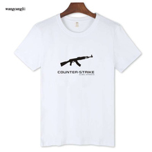 2017 O-Neck summer mens T Shirt CSGO game Trendy Short Sleeve T Shirt and Men in Street wear Style Mens Cotton Tees T-shirt