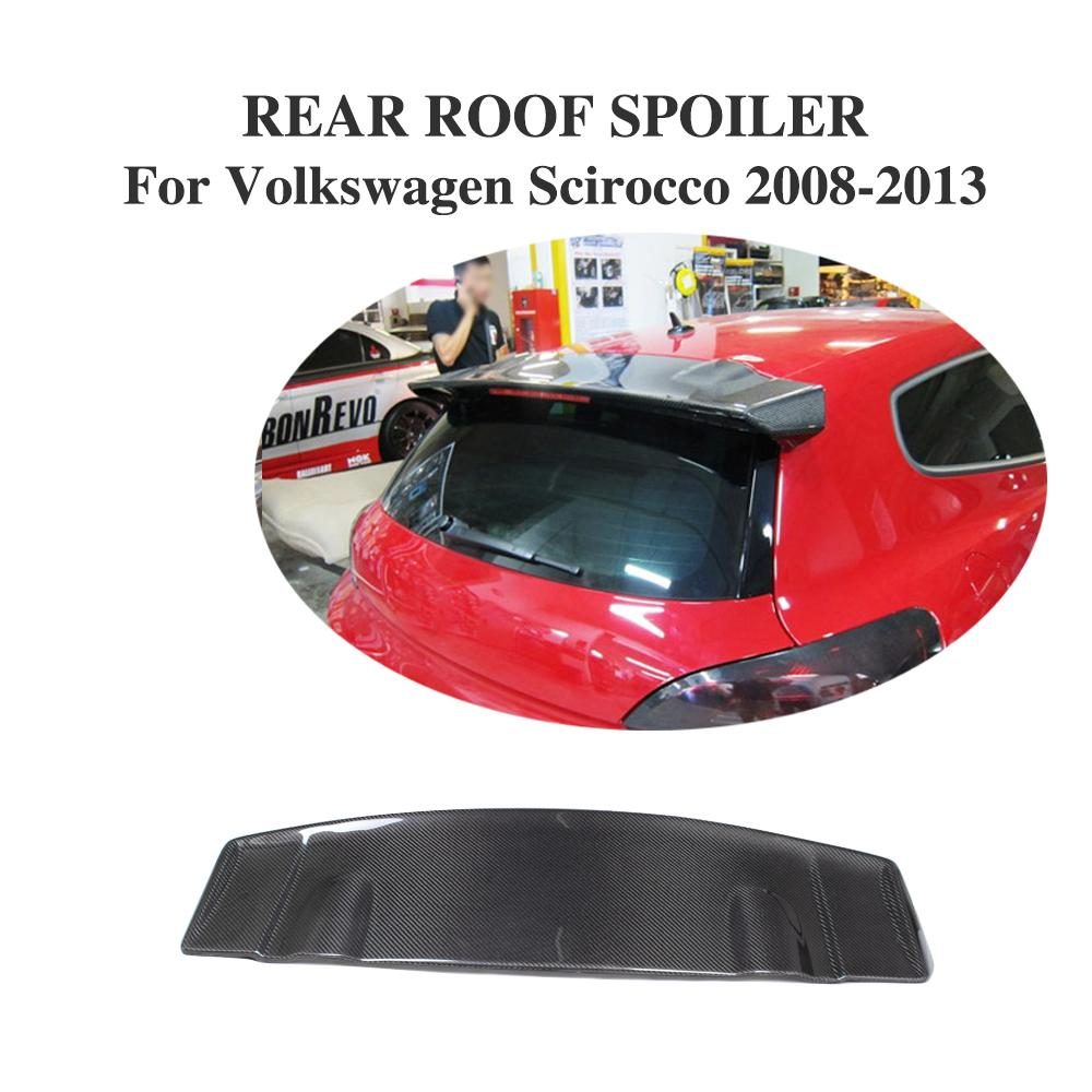 Auto Part Carbon Fiber /FRP Rear Roof Lip Spoiler Trunk Boot Wing Car Styling for Volkswagen VW Scirocco 2008 2013 V Style
