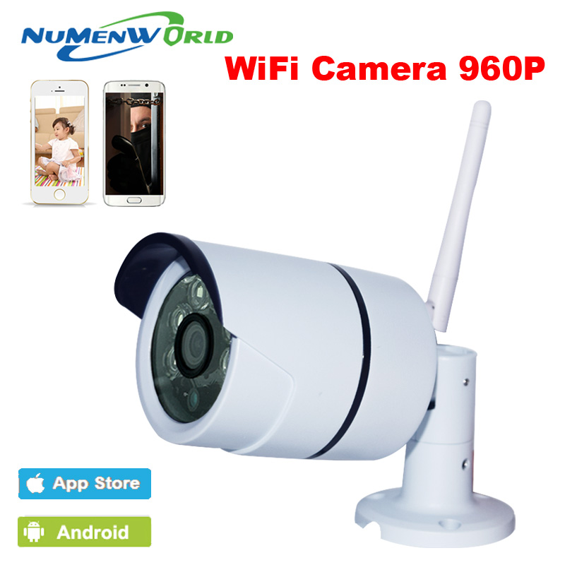 Wifi IP Camera 960P HD Support Micro SD Card Waterproof CCTV Security Wireless CAM P2P Outdoor Infrared IR Network APP V380 ip camera wifi 960p cctv security system wireless micro sd card outdoor waterproof cameras onvif p2p infrared network camera cam