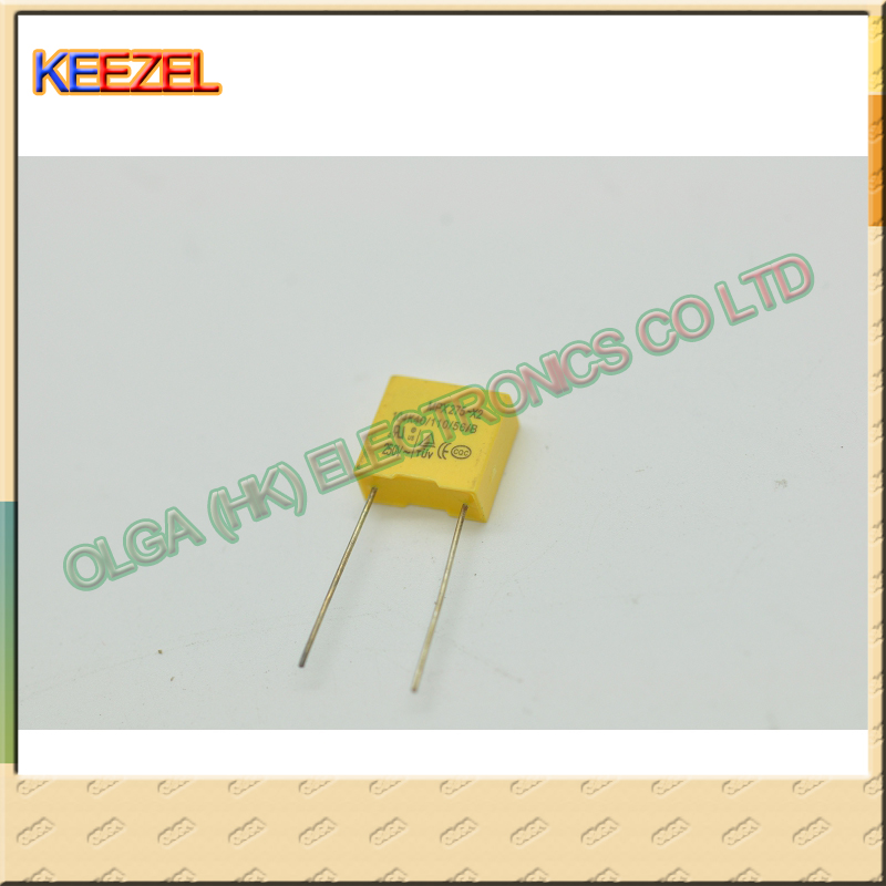 FREE SHIPPING 5 x 100nF 0.1uF 100V 5/% Polyester Film Box Type Capacitor