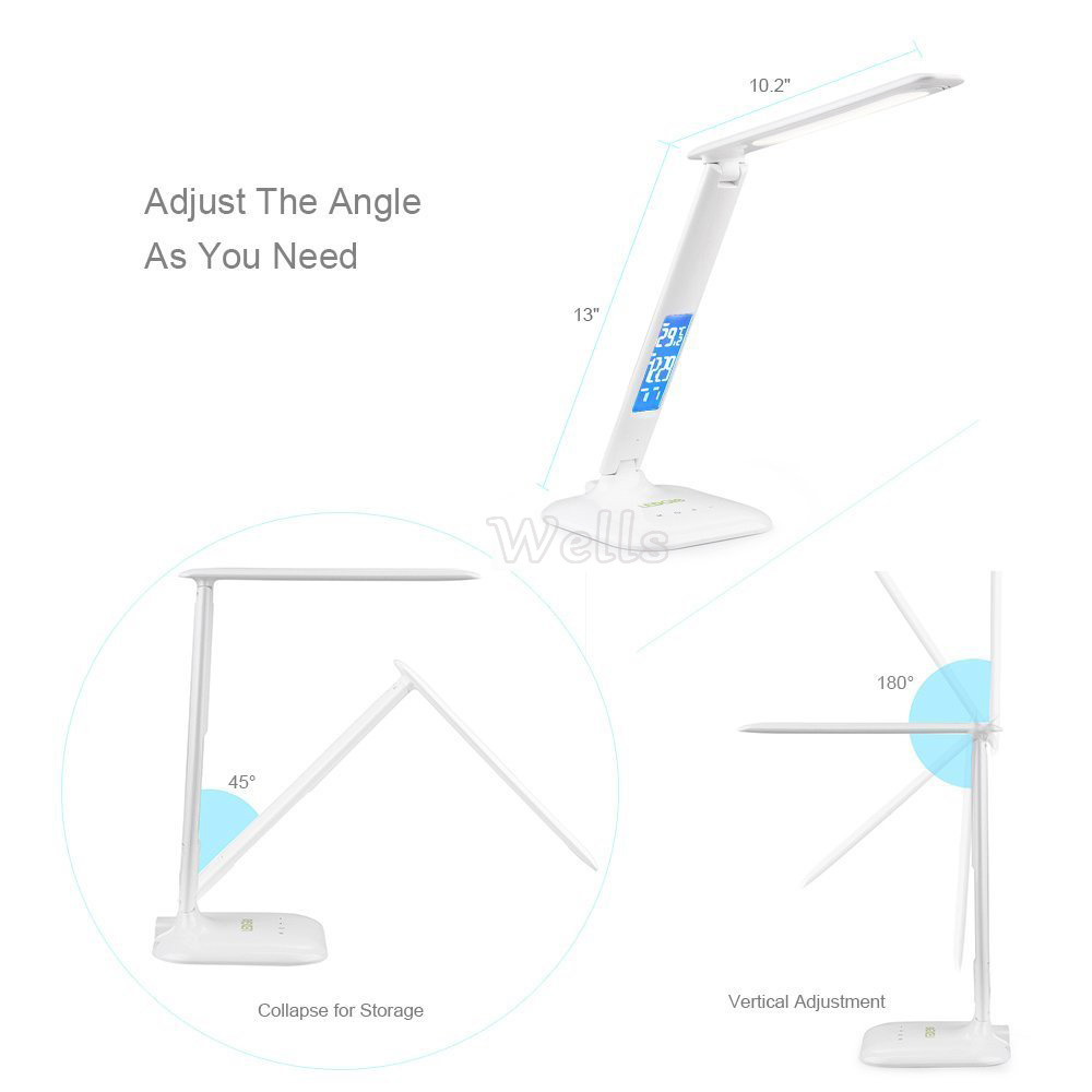 Portátil conduziu a lâmpada de mesa com
