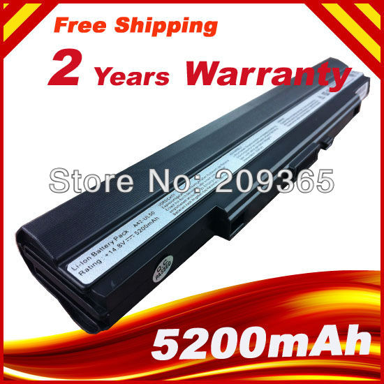 14.8V 5200mAh A42-UL30 A42-UL50 A42-UL80 Laptop Battery For Asus UL30 UL30A UL30JT UL30VT UL50 UL50AG UL50VG UL50VT