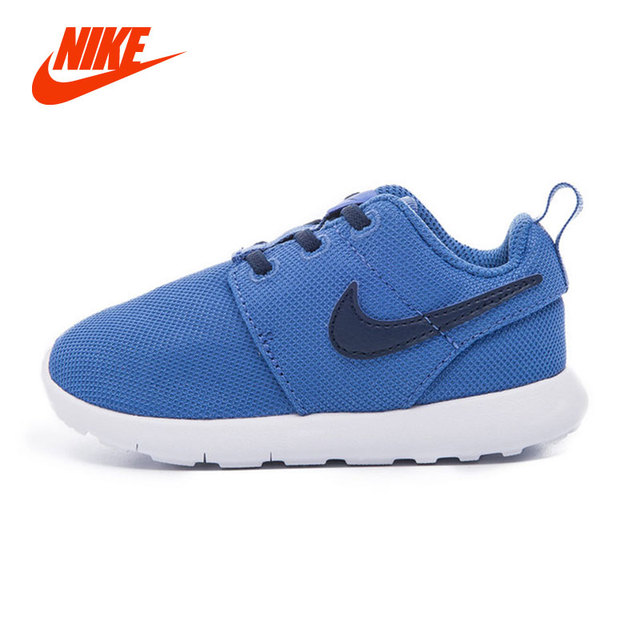 best sneakers c48e8 4acb1 Original Nike ROSHE ONE Boy Baby Kids Running Shoes Air Mesh Lace Up  Lightweight Damping Sport Sneakers Children Causal Shoe