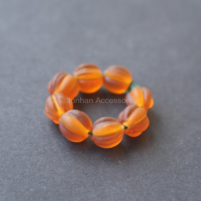 30Pieces /lot 8mm Glass lampwork beads Pumking Beads Brown Color for jewelry &DIY
