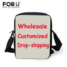 FORUDESIGNS Customized Small Men Women Messenger Crossbody Bags,Mens Woman Wholesale,Drop Shipping Kids Mini Shoulder Bag