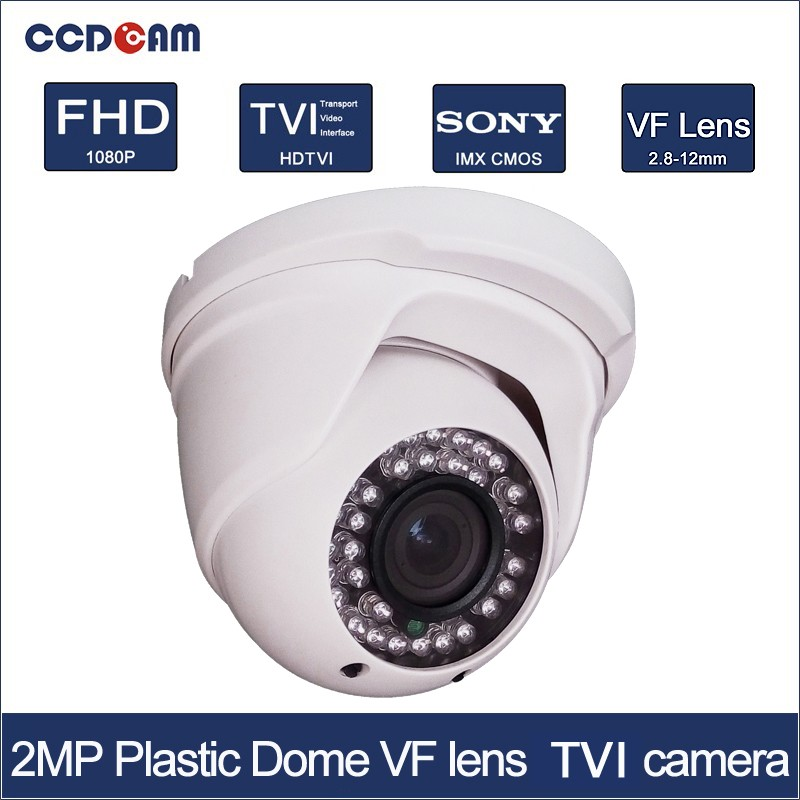 CCDCAM Plastic dome 1080P font b CCTV b font CVI security camera for security system