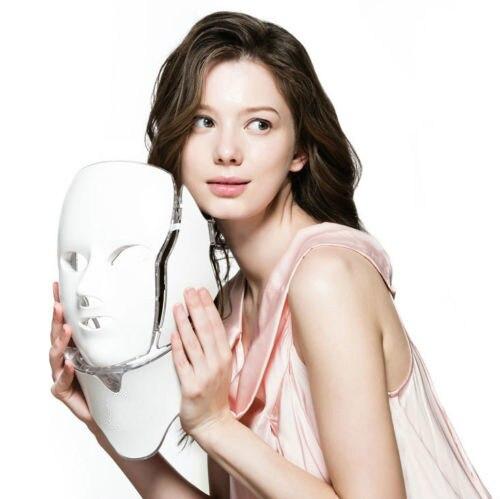 Photodynamic LED Facial Mask Daily Beauty Instrument Anti Acne Skin Rejuvenation LED Photodynamic Beauty Mask for Face Neck Ear