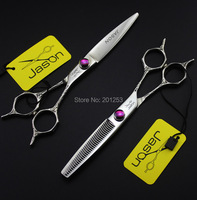 Professional 5.5Inch Cutting Scissors and Thinning Scissors Kits,JP440C Hair Shears for Barbers with Flower Handle 1set LZS0471