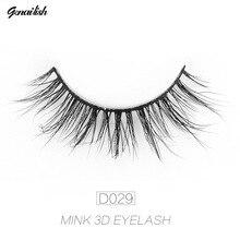 Фотография Genalish Eyelashes 3D Mink Lashes Natural Long Cross False Eyelashes Hand Made Strip Lashes Makeup Beauty Extension Eyelash D29