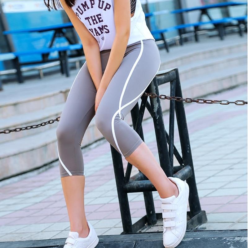 Calf-length Pants Capri Pant Sporter leggings Women Fitness Yogi Gym High Waist Legging Girl Black Mesh 3/4 Yogi Pants women