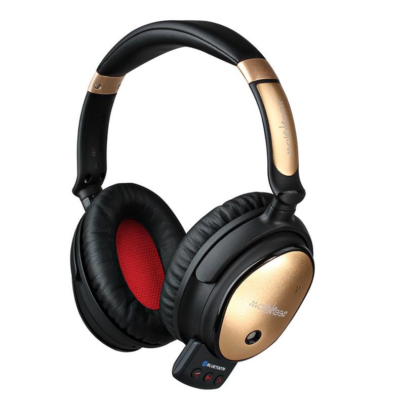 Suppression Active du bruit casque Bluetooth casque sans fil HIFI stéréo Super basse réduction du bruit écouteur avec Microphone