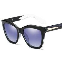 2017 Luxury Brand Designer Polarize Sunglasses Women Cat Eye Glasses Vintage Coating Reflective Sun Glasses Female Eyewear UV400