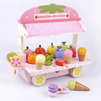 Promotion!Hot Wooden Toy Pretend Play Toy Simulation Magnetic Ice Cream Colourful Kitchen Food Baby Toy Food Birthday D168