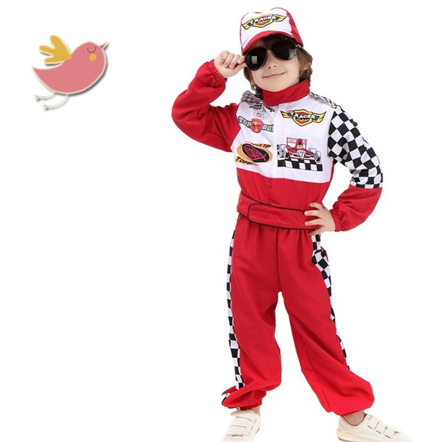 New Style Stage Costumes Childrenu0027s Halloween Cosplay Wear The Red Race Car Driver Uniform Masquerade Costume  sc 1 st  AliExpress.com & New Style Stage Costumes Childrenu0027s Halloween Cosplay Wear The Red ...