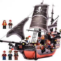 GUDI 9115 Caribbean Pirates Black Pearl Ghost Ship Model Building Blocks Brick Set Compatible Legoe Technic Playmobil Toys