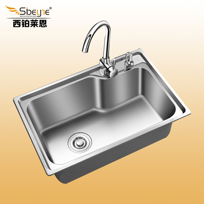 Undermount Stainless Steel Kitchen Sink Single Bowl With Faucet