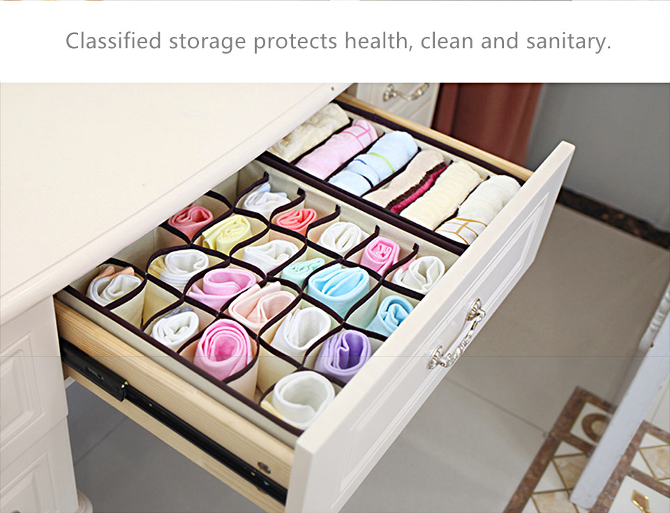 Foldable Organizer For Underwear Socks Bra Drawer Organizers Closet Underwear Organizer Drawer Divider Storage Box 12-1_10_