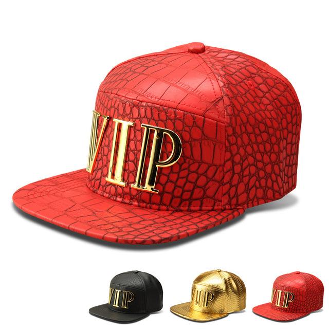 5 painel de ouro VIP Mens Caps chapéus Gorras Planas Hip Hop boné de beisebol Cap diamante homens de couro PU Drake chapéus chapéu Gorra Beisbol Hombre