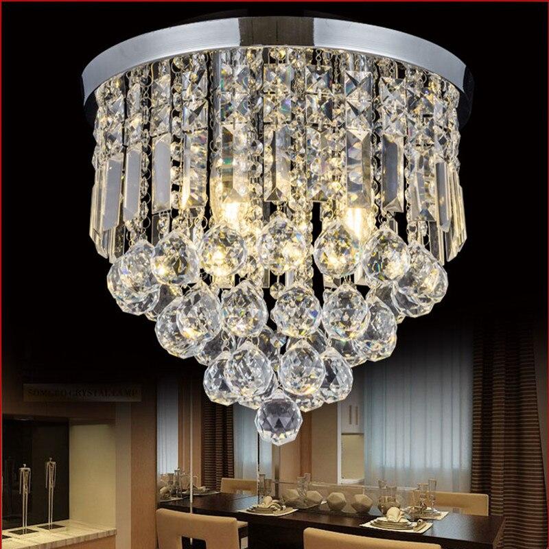 IKVVT Modern Simple Crystal Ceiling Lamps LED Lighting Fixture for Home Restaurant Bedroom Bedside Ceiling Lights Dia15/20/25cm