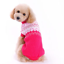 2018 Pet Turtleneck Sweater Warm Wind Fashion Pink Dog Puppy Sweaters Cat Clothes Dropship(China)