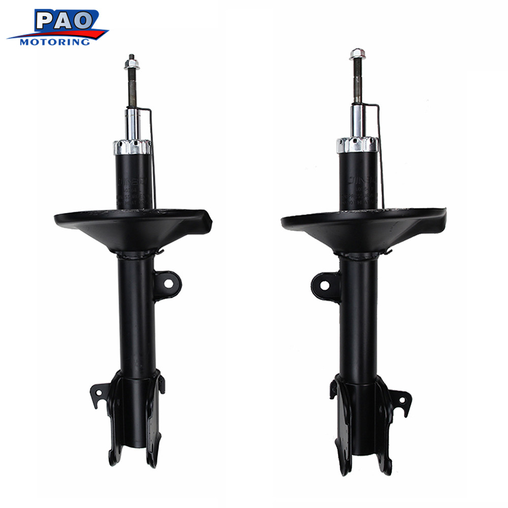 2PC New Front Strut Shock Absorber Left&Right For 2001-2002 Acura MDX ,2003-2008 Honda Pilot 71452,71451 Car-styling Suspension air suspension bag new rear left shock strut for toyota 4 runner gx470 prado 2003 2009 car styling oem 48090 35011