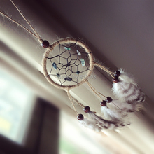 Peacock feather car home decoration 7cm diameter indian dream catcher dreamcatchers free shipping