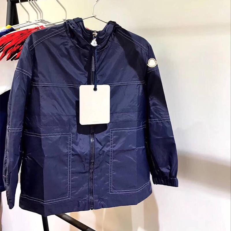 цена на Kids Navy Jackets Coat Boys windproof Outerwear Children Autumn Fashion Jacket Windbreaker Children's Clothing