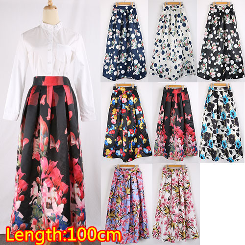 Long Printed Skirts - Dress Ala