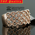 GR.NERH For Man And Woman Rose Gold Plated Rhinestones Studded Finger Ring  Retail&wholesale