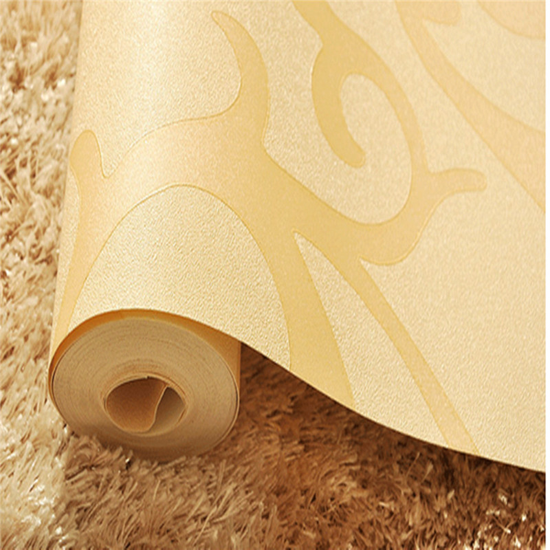Lowest Price New Design Living Room TV Background Bedroom Wall Paper Roll Home Decoration Wallpaper Apricot Color 10m53cm In Wallpapers From