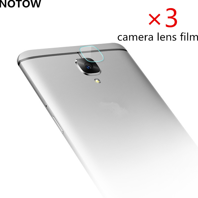 3Pcs/lot NOTOW flexible Rear Transparent Back Camera Lens Tempered Glass Film Protector Case For oneplus 3/3 t