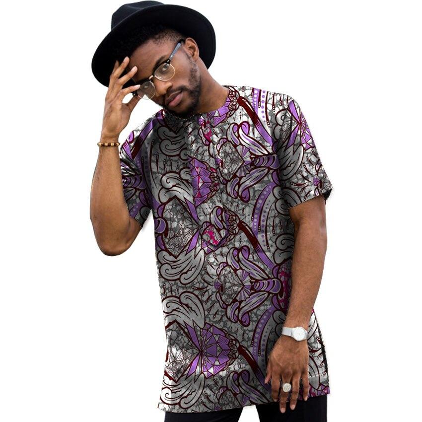 Sommar Dashiki Män Klänning Afrikansk Kläder Mode Tryck Korta - Nationella kläder - Foto 3