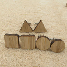Wooden Cufflinks Geometry Shapes