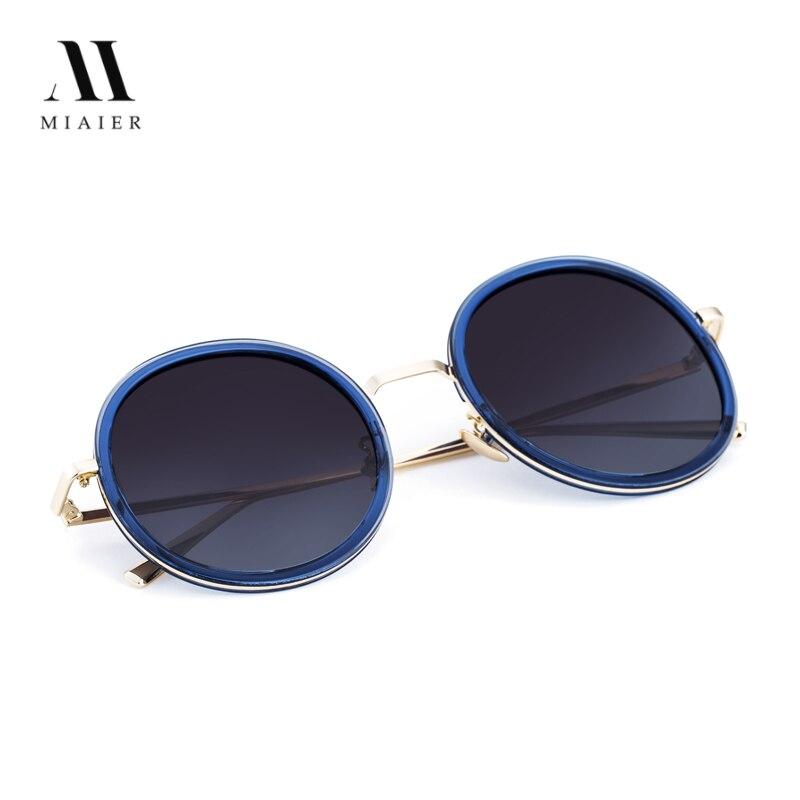 MIAIER Sunglasses Women Metal Frame Retro Sunglasses Men 2017 New Style Polarized Sung Round Sunglasses Steampunk
