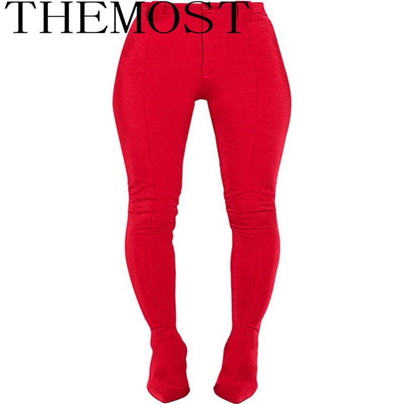 THEMOSTEurope and the United States new long paragraph high heel pointed jumpsuit ladies sexy fashion boots large size 34-48 travels in the united states etc during 1849 and 1850