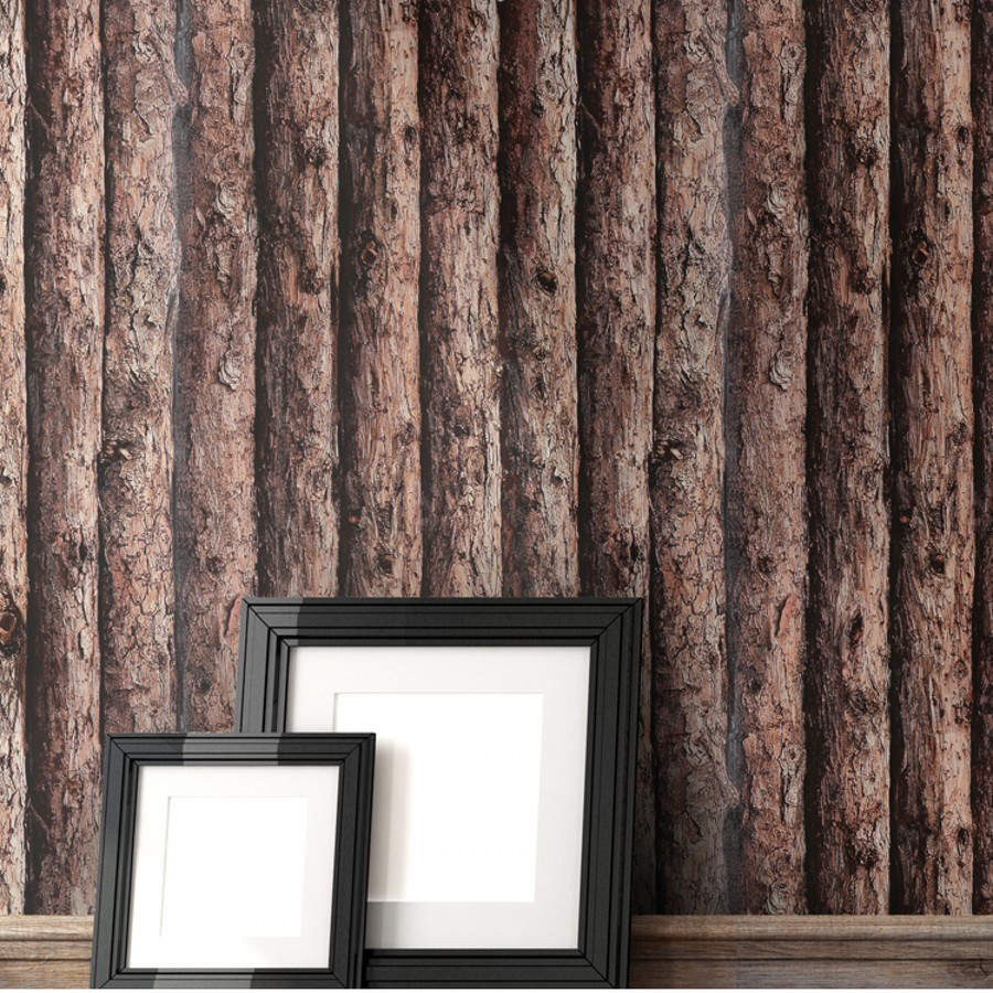 цена на beibehang wood Wallpaper for wall 3d Rustic Texture wall sticker Vinyl papel de parede 3d Wall Paper roll TV Background backdrop