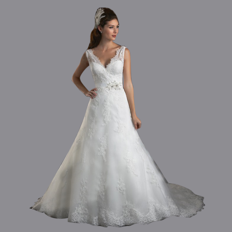 Trumpet Style Wedding Gowns: Free Shipping Cute India Style Trumpet V Neck Appliques