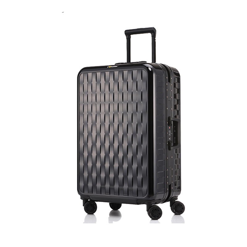 Letrend Aluminium Frame Travel Bag Carry On Luggage Hardside Trolley Rolling Luggage Spinner Student Wheel Suitcase