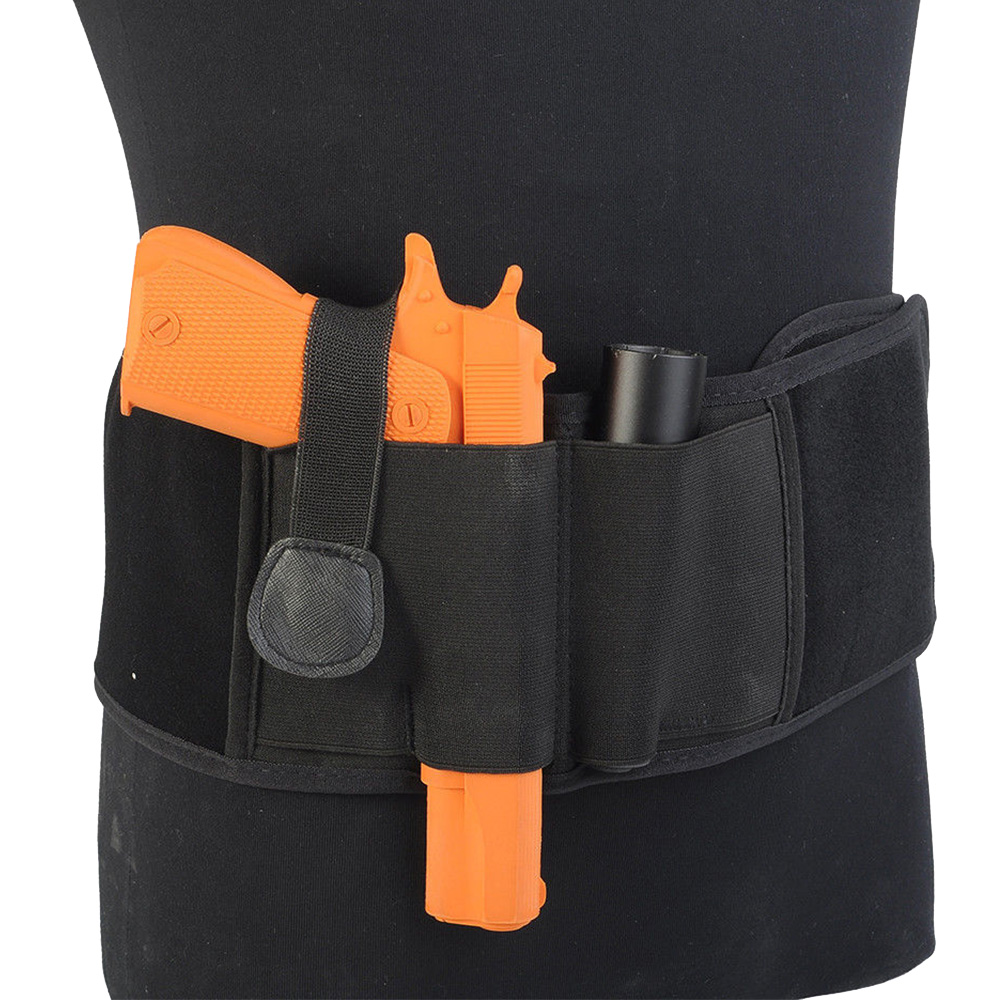 Concealed Carry with Elastic Secure Strap Pistol Concealment For Glock, M&P Shield, Sig Sauer, Ruger, LCP, Kahr, Beretta