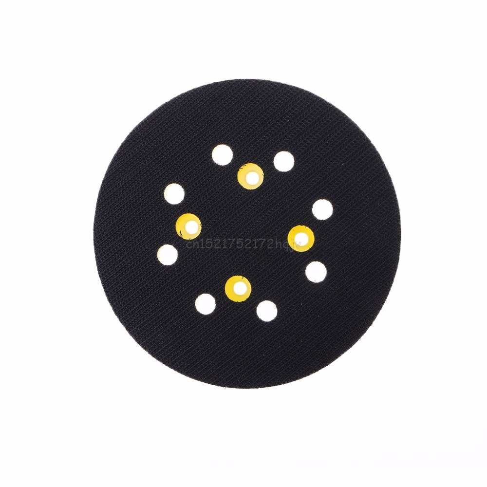 5 Inches 125 MM 8-Hole Back-up Sanding Pad 4 Nails Hook And Loop Sander Backing Pad For Electric Grinder Power Tools A26 19