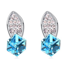 High Quality Crystal Cubic Stud Earrings Made with Swarovski ELements women Orecchini Fine Jewelry(China)