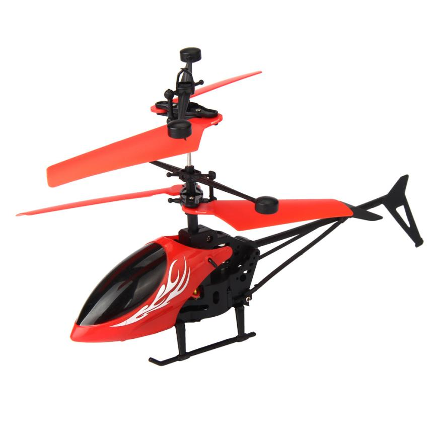 YIQU Flying Mini RC Infraed Induction Helicopter Aircraft Flashing Light Toys For Kid
