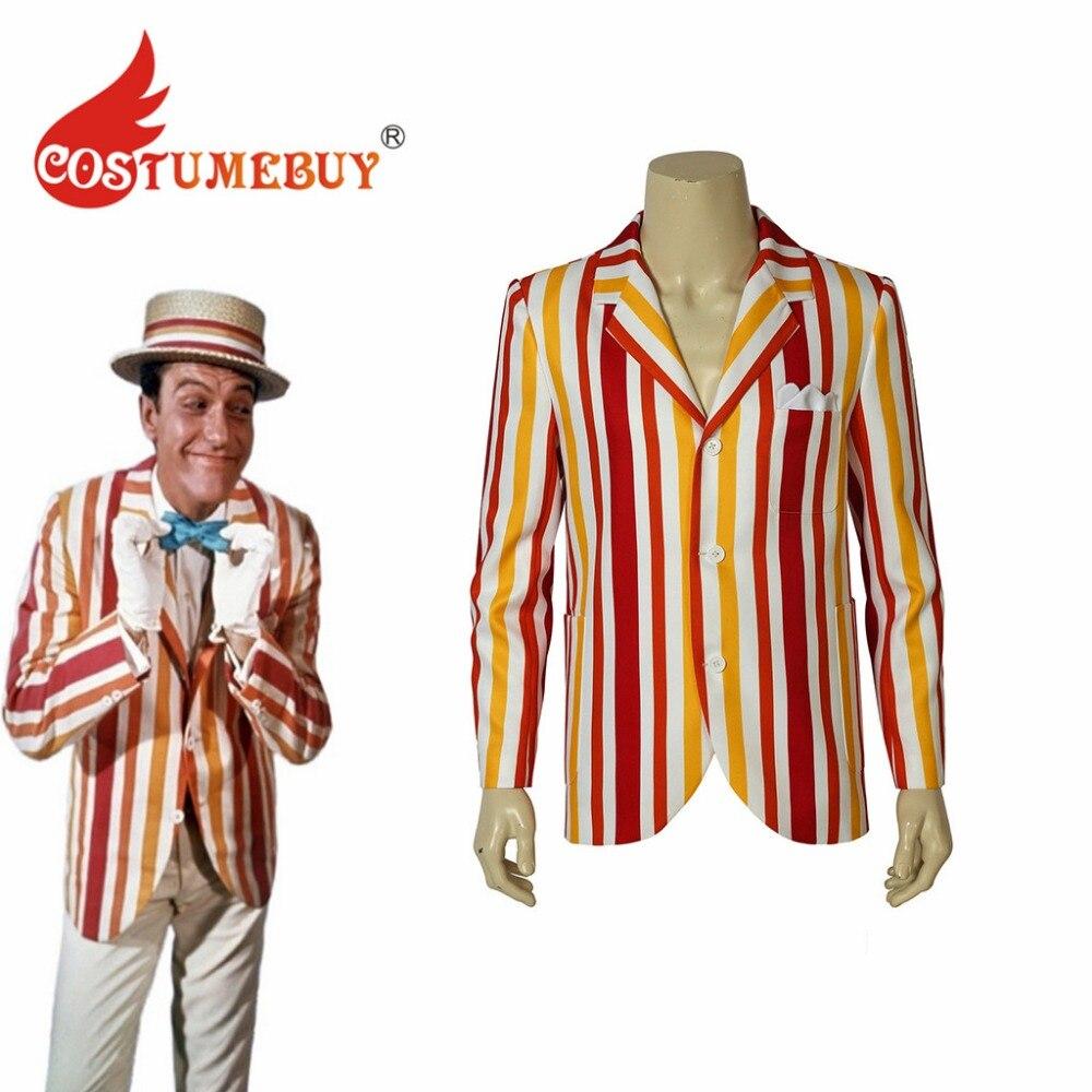 CostumeBuy Mary Poppins Returns Bert Cosplay Costume Jacket Adult Mens Straps Coat L920