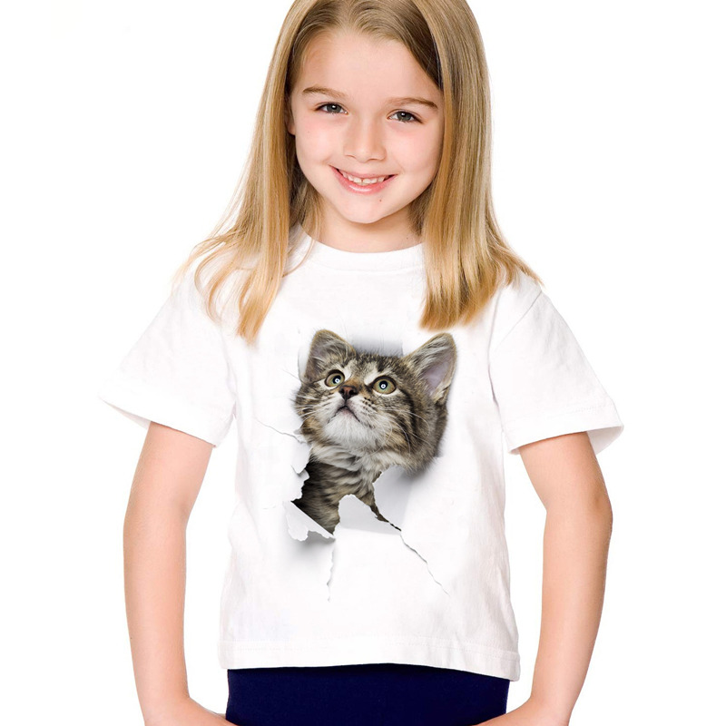 HTB1owbDSFXXXXc1XpXXq6xXFXXXB - 2017 fashion summer cute children brand clothing for kids girl short sleeve print 3d cat t shirts tops baby clothes