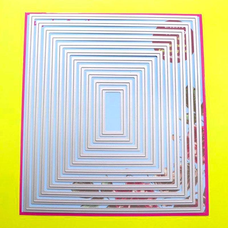 Large Cutting dies 18x20.5cm 11-Piece Basic Rectangle Scrapbook Cardmaking DIY Craft Metal StencilLarge Cutting dies 18x20.5cm 11-Piece Basic Rectangle Scrapbook Cardmaking DIY Craft Metal Stencil