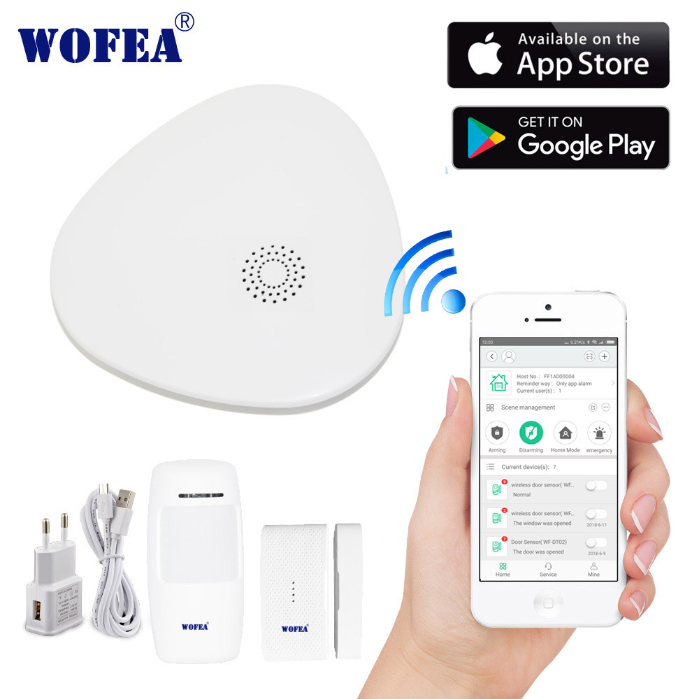 2.4G smart home security home security  wifi alarm system Android/IOS APP Smartphone App smart host V10-in Alarm System Kits from Security & Protection