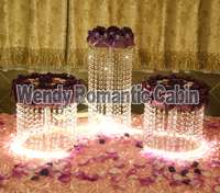 3PCS/lot Party Crystal Cake Stand 03D2 Wedding decoration Party supplies circle clear crystal centerpiece Paty cake holders
