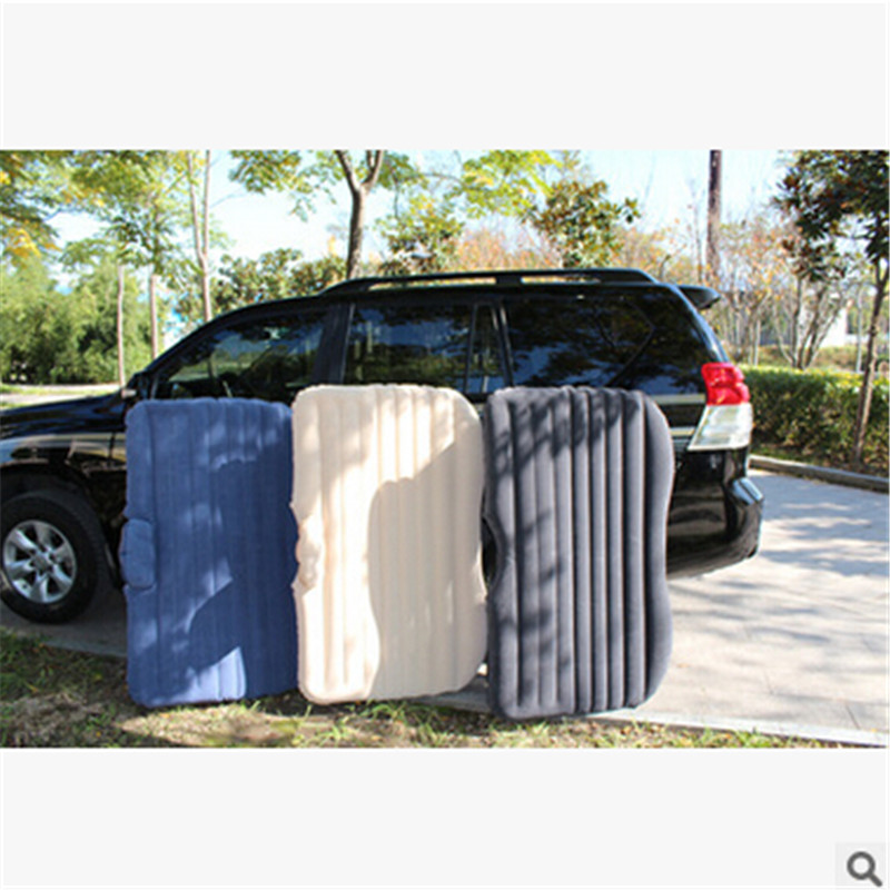 DHL 3-7day Offroad car Travel Inflatable Air Mattress Bed flocking Inflatable seat outdoor mattress 2016 NEW car bed