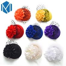 H Вуалетка, декоративные шпильки для волос, день рождения, заколка для волос детская шляпа в форме цветка, заколка для волос, аксессуары для волос на Рождество