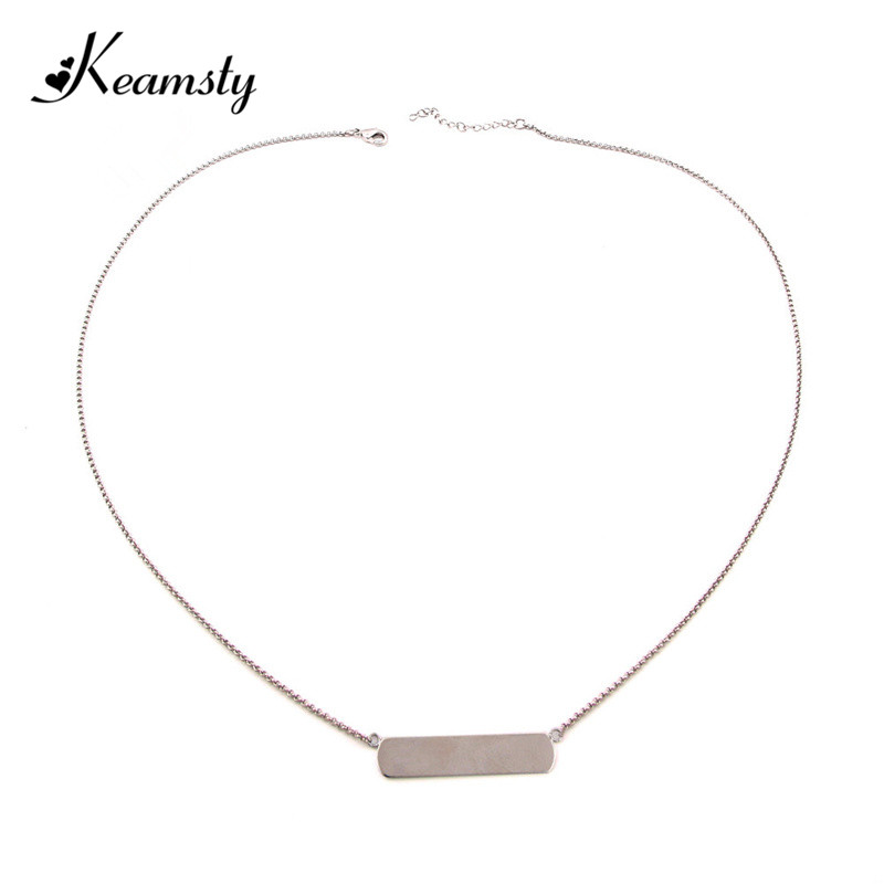 Keamsty Silver Tone Keeper Horizontal Pendant 60cm Necklaces Chains for Keeper Charms Womans Necklaces New Arrival